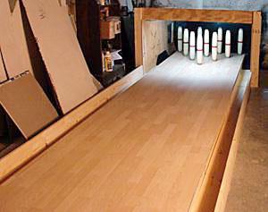 North American Bowling Homemade Bowling Lanes Just For Fun Or